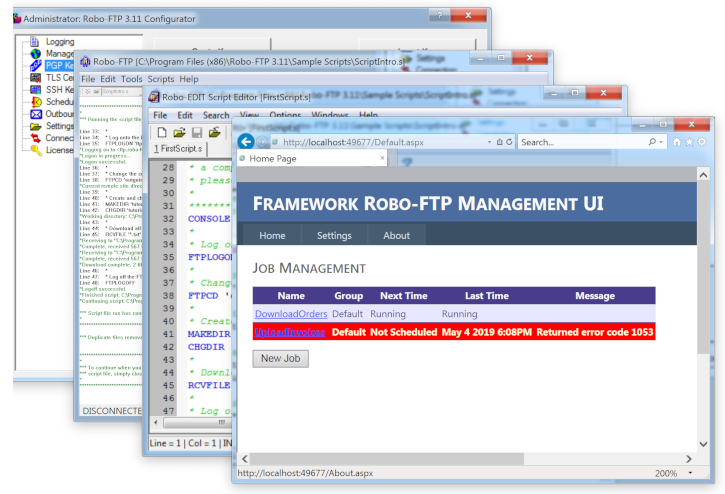 Robo-FTP and Robo-FTP Server: secure automated FTP